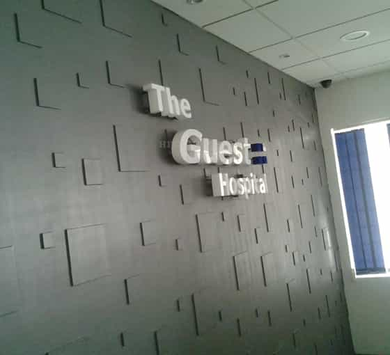 3D Signage Letters - The Guest Hospital